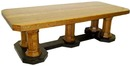 47.6081 19th C. American Quartersawn Oak Conference Table