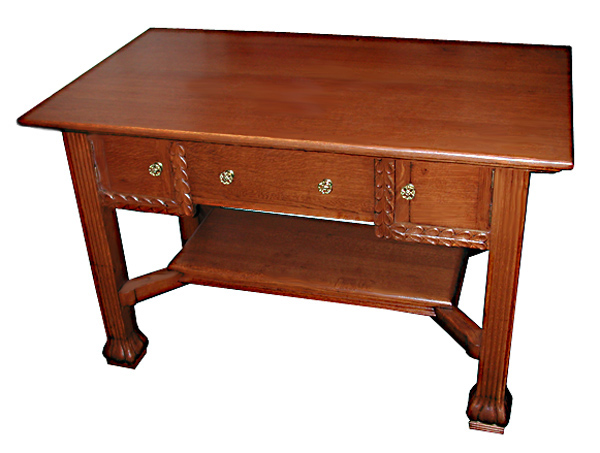 11.4864 Fantastic Oak Mission Desk with 3 Drawers