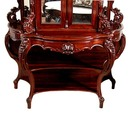 27.6099 American Rococo Carved Rosewood Cabinet & Console by J. Meeks
