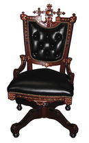 31.1475 American Renaissance Revival Ladies Swivel Chair