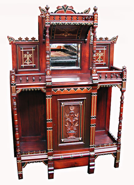 6152 American Aesthetic Movement rosewood cabinet, c.1875, New York