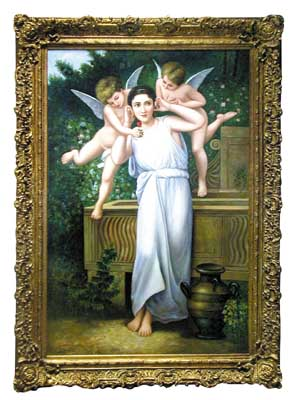 4464 Oil on Canvas Reproduction of Youth by William-Adolphe Bouguereau