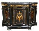 28.6213 19th C. American Victorian Inlaid & Ebonized Cabinet