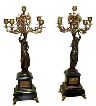64.6235 Parcel-Gilt Candelabra, 6-light, 19th c. French