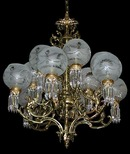 57.6232 Large 19th C. Cast Bronze Chandelier w/North Wind  Heads & Standing Women