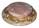 83.6286 Antique Two-Tier Dore Bronze & Marble Plateau