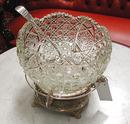 83.6289 19th C. American Eastlake Leaded Glass Punch Bowl