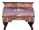 06.5102 French Empire Cylinder Desk w/Bronze Trim.