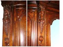 53.5074 19th C. American Walnut & Burl Armoire w/Large Beveled Mirror