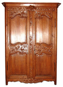 24.6333 Fantastic French Armoire w/Nice Carvings