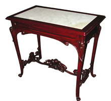 13.6268 Art Nouveau Table with Inset Marble Top