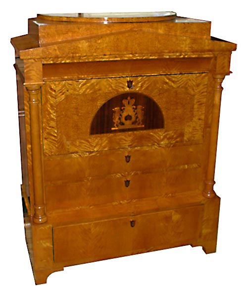 10.6276 Biedermeier Style Antique Secretary Desk