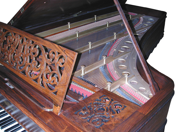79.4485 Art Case Rosewood American Chickering 9' Concert Grand Piano.