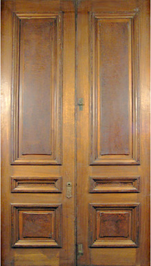 83.6416 Pair of American Victorian Walnut & Burl Doors