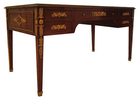 08.6426 French Empire Desk with Bronze Trim