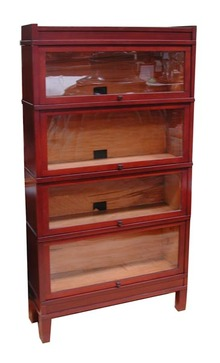22.3001 Early 20th C. Curio Cabinet or Bookcase with Glass Doors