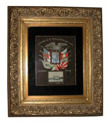 77.253 American 20th C. Framed Silk Embroidery.
