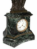 63.6492 Antique Bronze & Marble Mantel Clock of the 3 Graces
