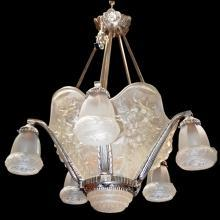 6833 Art Deco 5-Tulip Chandelier
