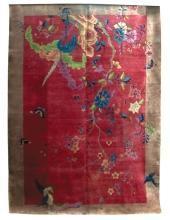 4542 Vintage Chinese Art Deco Rug c. 1920
