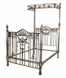 31.6573 Detailed 19th C. Bronze Bed