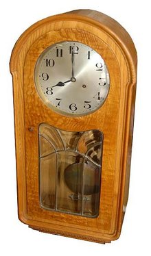 63.6629 Walnut & Burl Antique Wall Clock