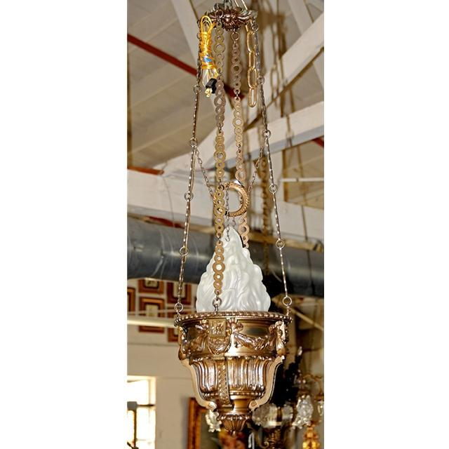 7087 Antique Bronze Pendant Chandelier