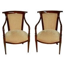 7024 A Pair of French Armchairs (7024 Desk) EACH