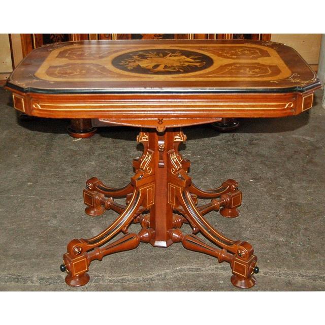 13.266 Antique Inlaid Center Table