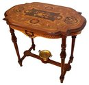 17.6684 19th C. Mid-Sized Inlaid American Victorian Center Table