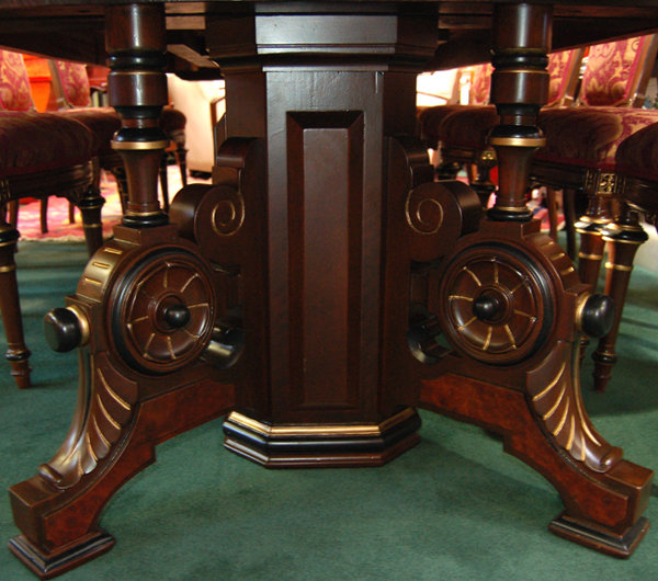 42.5424  13-Pc. Walnut Renaissance Revival Dining Set c. 1880