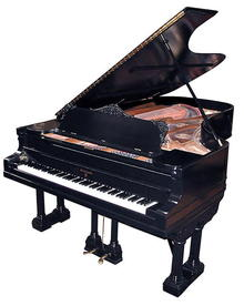 79.3592 Antique Black Knabe Concert Grand Piano
