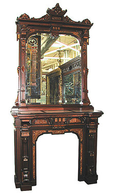 72.5297 Renaissance Revival Mantel & Over Mirror