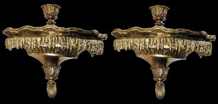 60.4438 Pair of 19th C. Bronze Wall Sconces