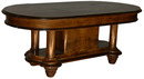 11.4562 Burled Walnut Rectangular Table with Curved Edges