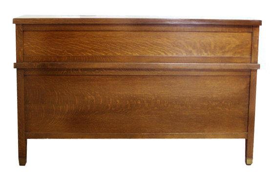 12.4144 Antique American Banker's Golden Oak