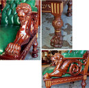 37.6768  French Art Nouveau 5 Pc Salon Parlor Set
