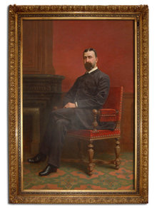 77.6773 Life-Sized Portrait of Distinguished Gentleman in Gilt Frame