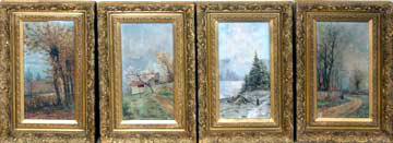 6792 The Four Seasons Paintings by Augustin De Boecke