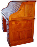 2473 Antique American Oak Rolltop Desk