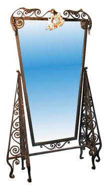 32.2507 Art Deco Wrought Iron Dressing Mirror