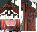 6924 Two-Piece Carved Walnut French Rococo Bedroom Set