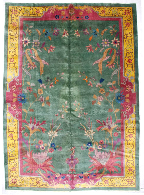 6968 Antique Art Deco Chinese Rug