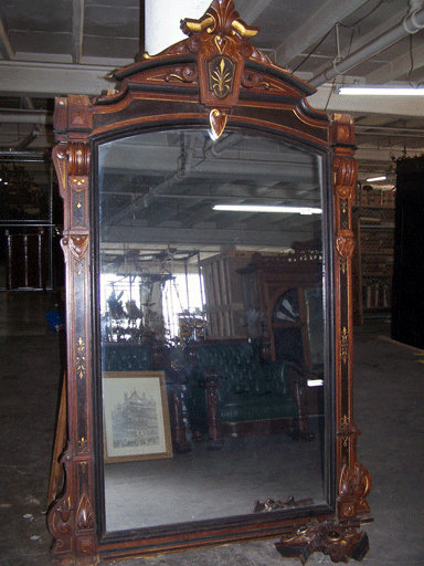 6948 19th C. Wall or Mantel Mirror