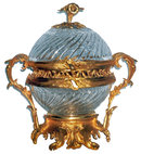 6952 Gilt Bronze & Cut Glass Centerpiece
