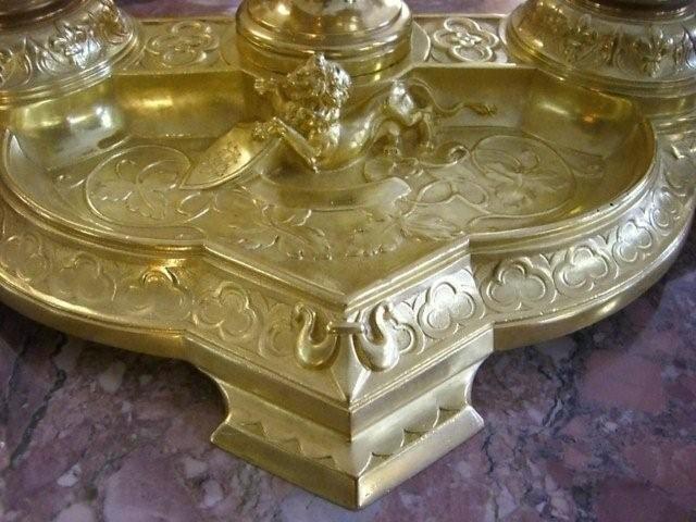 7040 Figure of Greek Mythology Bronze Inkwell