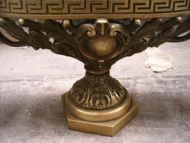7047 3-Pc. Bronze Jardiniere & Flower Pot Set