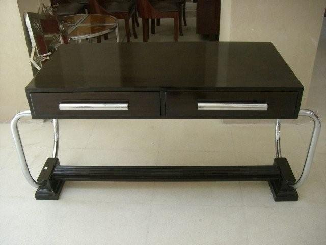 7067 Art Deco Table/Desk with Chrome Handles