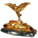 7074 Bronze Winged Figural Man with Eagles Inkwell