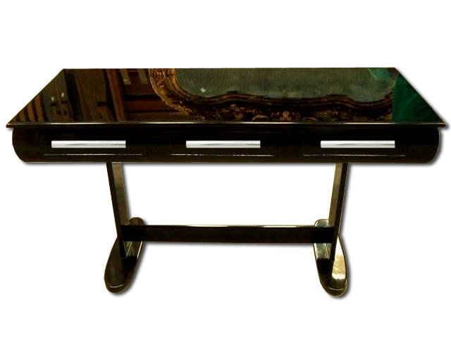 7022 Art Deco Library Table/Desk with French Polish Finish